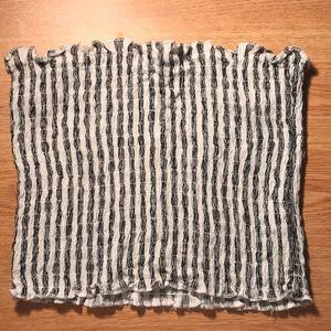 Black & White Striped Tube Top (Forever 21)